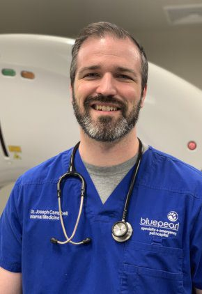 Dr. Joseph Campbell is a veterinarian in our internal medicine service.
