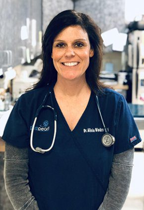 Dr. Alicia Niedzsweck is board certified in veterinary emergency and critical care.