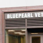 Exterior of BluePearl Pet Hospital in Queens, NY.