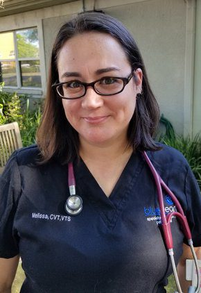 Melissa Siekanic is a certified veterinary technician with additional board certification in emergency and critical care medicine.