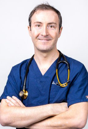 Dr. Stephen Simpson is board certified in emergency and critical care veterinary medicine.
