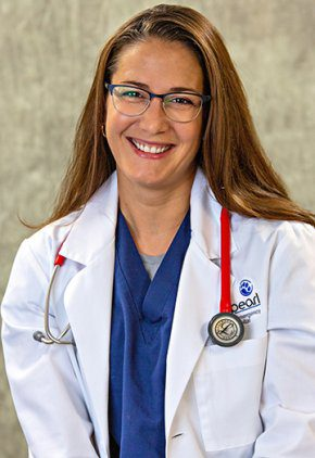 Dr. Kerrie Lewis is board certified in veterinary anesthesiology and pain management.
