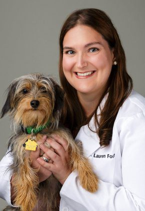 Dr. Lauren Fout is a veterinarian in our radiation oncology service.