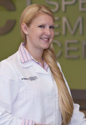 Dr. Sarah Round is board certified in veterinary surgery.