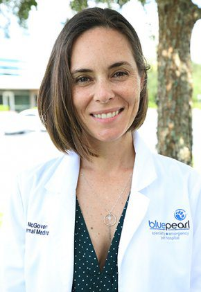 Dr. Diana McGovern is board certified in small animal internal medicine.