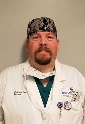 Dr. Kevin Kunkel is board certified in small animal surgery.