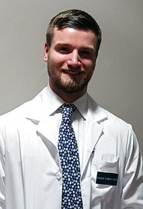 Dr. Joseph Collins is a small animal medicine and surgery intern.
