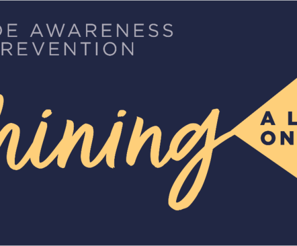 Shining a light on Suicide Awareness and Prevent Banner