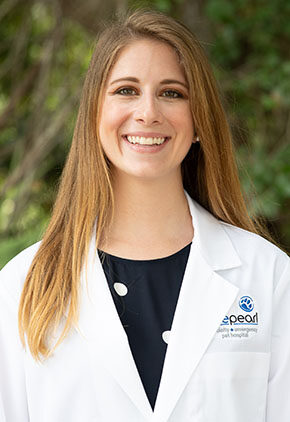 Dr. Natalie Deanis a veterinarian in our emergency medicine training program for clinicians.