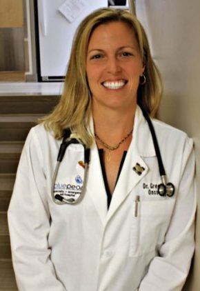 Dr. Chelsea Greenberg is board certified in veterinary oncology.